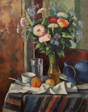 Edward Franklin Fisk, Still Life, ca.1932, oil on canvas, 30 1/8 x 24 1/4 inches