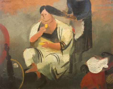 William Gropper, The Morning Toilette, oil on board, 16 x 20 inches
