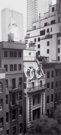 Anthony Mitri West 54th Street from The Museum of Modern Art (SOLD), New York, NY, 2006, charcoal on paper, 36 x 16 1/2 inches