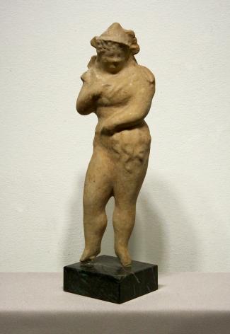 elie nadelman, Standing Woman, c. 1930-35, pâpier-maché, 13 3/4 x 4 1/4 x 3 inches