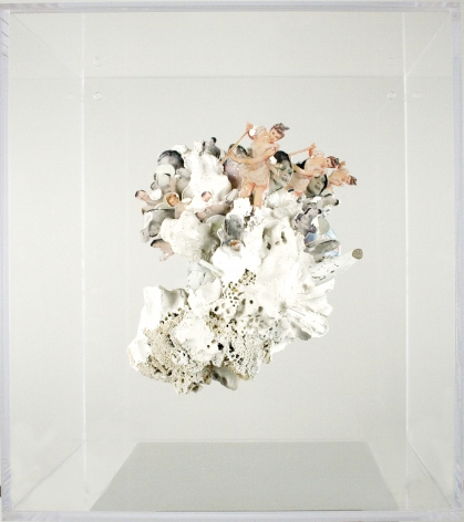 Amélie Chabannes, Gender, Madonnas and Whores #1 , 2011, mixed media on Plexiglas box  17 1/2 x 13 1/2 x 19 1/2 inches