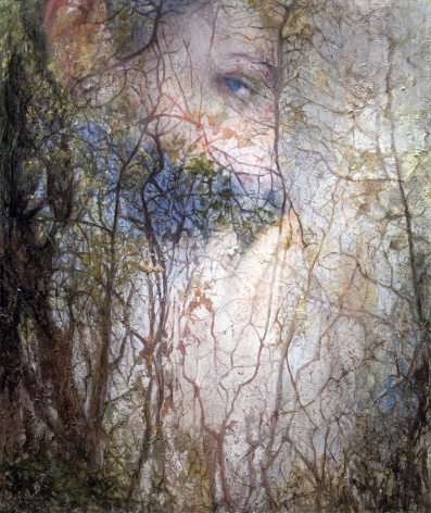 alyssa monks, Merge (SOLD), 2015, oil on linen, 66 x 56 inches
