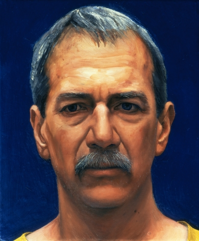William Beckman, Portrait of Gregory Gillespie, 1996, oil on panel, 14 x 11 1/2 inches, Private Collection, PA