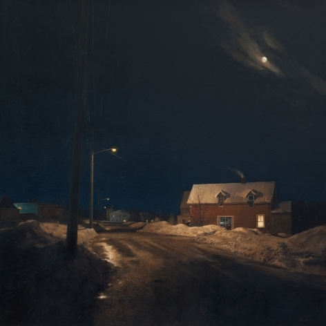 linden frederick, Off Main (SOLD), 2011, oil on linen, 45 x 45 inches