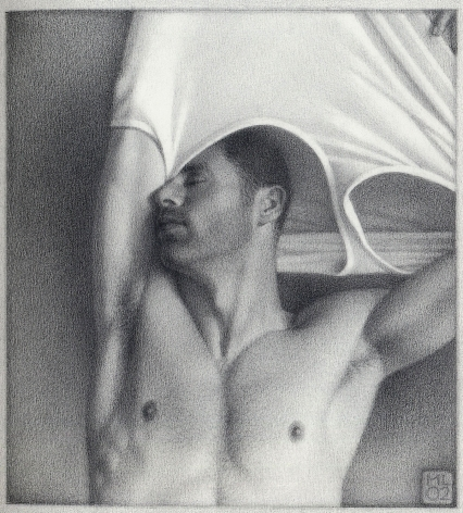 Michael Leonard, Taking Off II (SOLD), 2002, graphite pencil on paper, 8 1/2 x 7 3/4 inches