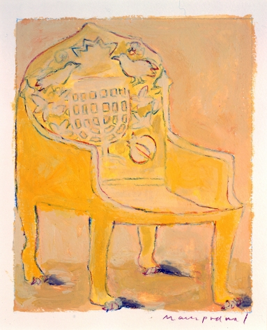 Mark Podwal, King Solomon's Throne, 1998, acrylic, gouache and colored pencil on paper, 12 x 10 inches