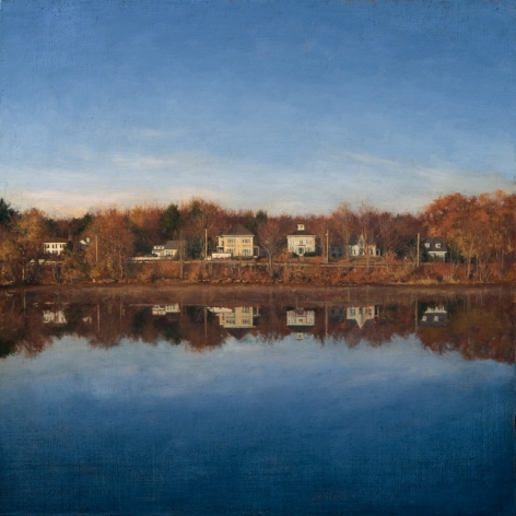 Linden Frederick, River (SOLD), 2008, oil on panel, 12 1/4 x 12 1/4 inches
