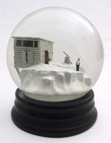 Walter Martin & Paloma Munoz, Traveler CLXXVI (176), 2012, glass, wood, water and plastic, 9 x 6 x 6 inches