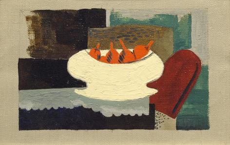 Walt Kuhn, Cubist Still Life, oil on canvas, 5 3/4 x 8 1/2 inches