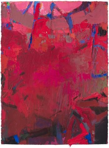 Brian Rutenberg, Sundown 1, 2016, oil and pastel on paper, 30 x 22 1/2 inches