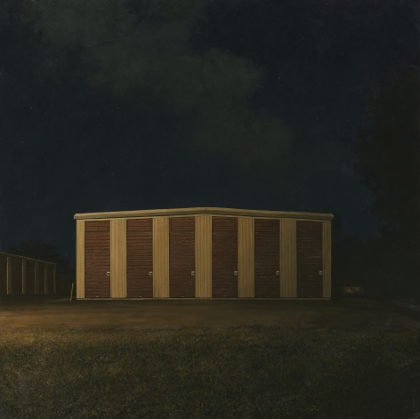 linden frederick, Self-Storage, 2014, oil on linen, 65 x 65 inches