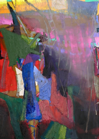 The Fading 8, 2009, oil on linen, 79 x 56 inches
