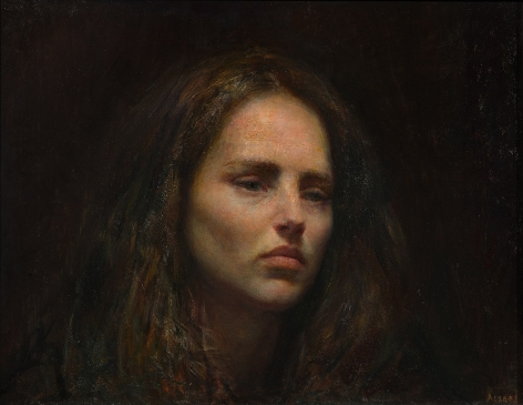 steven assael, Julie (SOLD), 2013, oil on board, 18 x 24 inches