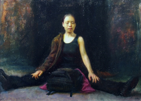 Steven Assael, Hynok Sitting, 2005, oil on panel, 11 3/4 x 16 inches