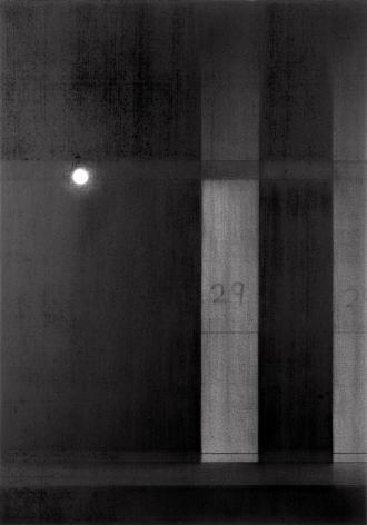 anthony mitri, No. 29, Penn Station, NY, NY, 2005, charcoal on paper, 26 x 18 3/16 inches