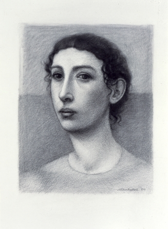 Alan Feltus, Portrait of a Woman, 2004, charcoal on heavy Fabriano paper, 13 5/8 x 11 inches