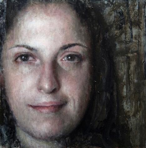 alyssa monks, Lisa, 2015, oil on panel, 10 x 10 inches