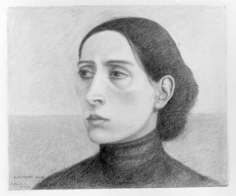 Alan Feltus, Portrait of a Woman, 2002, pencil on heavy paper, 11 7/8 x 14 inches