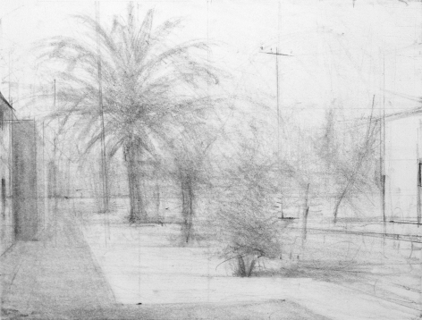 robert bauer, Landscape #2, 1998, graphite on paper, 8 x 10 inches