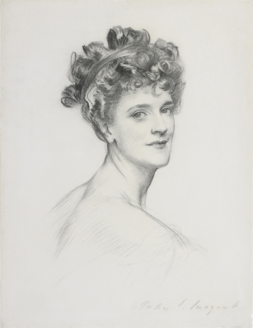 John Singer Sargent, Alice, Lady Lowther (nee Blight), c. 1905, charcoal on paper, 24 5/8 x 18 3/4 inches