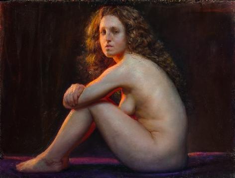 Steven Assael, Aslan, 2014, oil on board, 18 x 24 inches