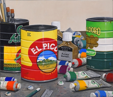 william beckman, Chock Full/Pico/Doro (SL #7), 2015-16, oil on panel, 17 1/2 x 20 1/4 inches