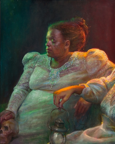 Steven Assael, Two Brides, 2012, oil on board, 20 x 16 inches