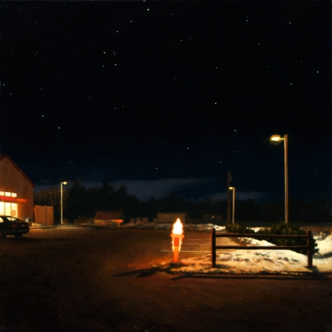 Linden Frederick, Big Dipper (SOLD), 2008, oil on panel, 12 1/4 x 12 1/4 inches
