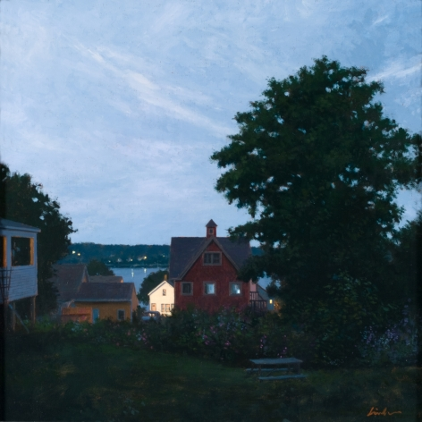 Linden Frederick, A Midsummer Night (SOLD), 2008, oil on panel, 12 1/4 x 12 1/4 inches