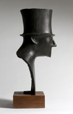 Elie Nadelman, Man with Top Hat, c. 1914, cast in 1982, bronze, 27 h x 15 1/2 w x 12 1/2 d inches, Edition 2/6