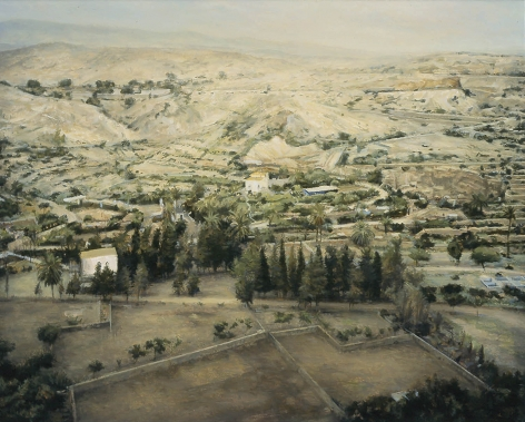 robert bauer, Landscape, Spain (SOLD), 2002, oil on panel, 14 3/8 x 18 inches