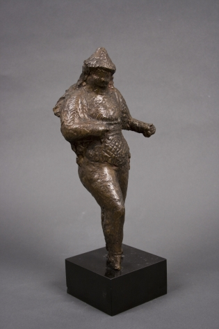 elie nadelman, Standing Nude, bronze with dark brown patina, 10 1/2 inches high