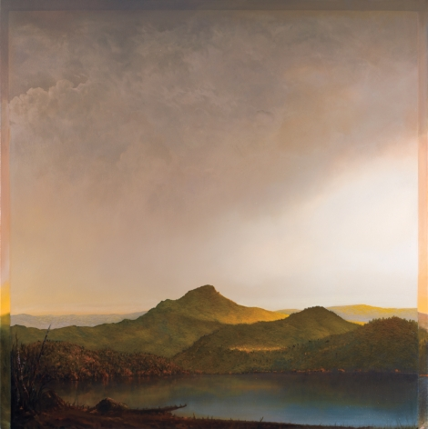 Tula Telfair, Bypassing the Historical Split (SOLD), 2011, oil on canvas, 60 x 60 inches