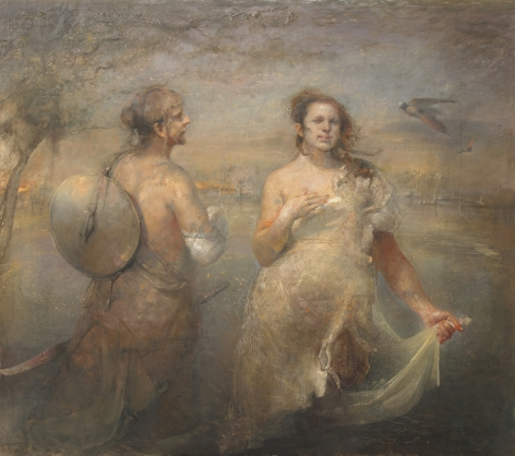 Odd Nerdrum, Egg Snatchers, oil on canvas, 70 1/2 x 79 1/2 inches