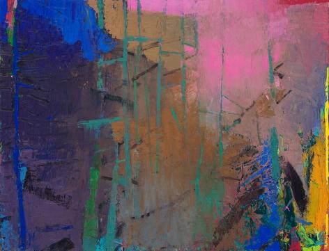 brian rutenberg, Azalea (SOLD), 2017, oil on panel, 52 x 68 inches