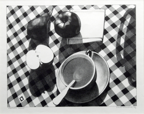 Louis Lozowick, Still-Life #2, 1929, lithograph A/P, 10 1/4 x 13 inches (image size), 21 7/8 x 24 7/8 x 1 inches (frame size)