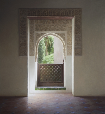 Guillermo Muñoz Vera, Tales of the Alhambra, 2011, oil on canvas mounted on panel, 78 3/4 x 72 inches