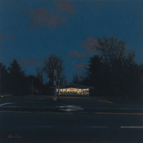linden frederick, Wash and Clean, 2012, oil on panel, 6 x 6 inches
