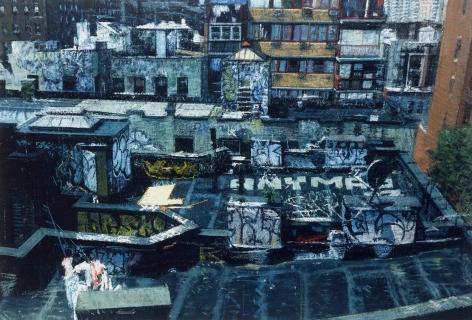 Bernardo Siciliano, Chinatown (SOLD), 2009, oil on canvas, 21 1/4 x 31 1/2 inches