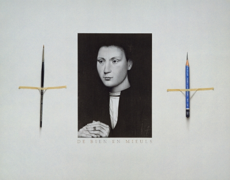Alan Magee, The Lost Memling (SOLD), 2000, acrylic and graphite on paper, 15 x 19 inches