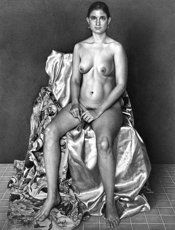 james valerio, Laila #2, 2001, pencil on paper, 28 5/8 x 21 7/8 inches