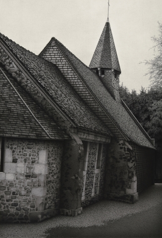 anthony mitri, Chapelle 1, Normandy, France, 2010, charcoal on paper, 33 5/8 x 23 inches 41 x 30 inches