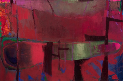 Brian Rutenberg, Rain and More Rain, 2019, oil on linen, 36 x 55 inches