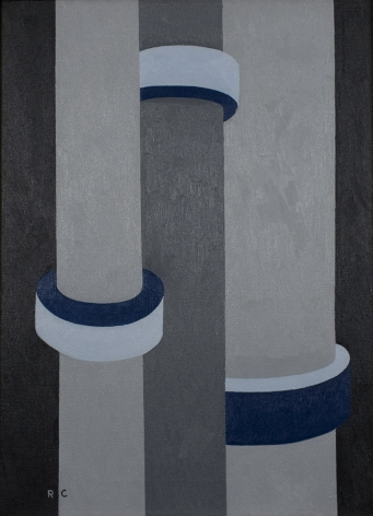 Ralston Crawford Turbine Shafts, Coulee Dam, 1970 oil on canvas 22 x 16 inches