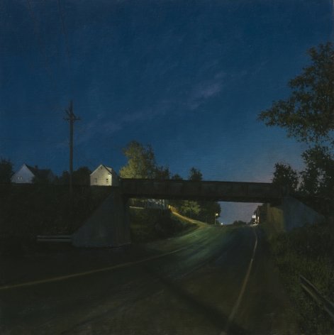 linden frederick, South Bound (SOLD), 2014, oil on linen, 34 x 34 inches