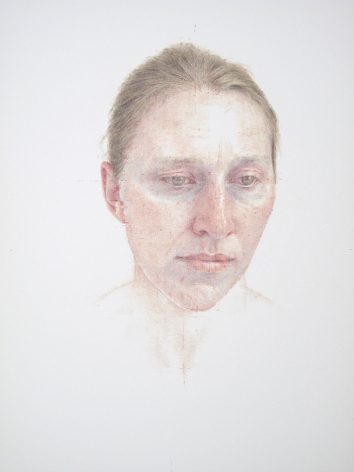 robert bauer, Erica, 2010, tempera on paper, 12 x 10 inches