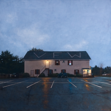 Linden Frederick VFW, 2009, oil on linen, 40 x 40 inches