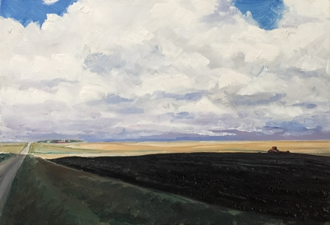 Side Road, 2020, oil on panel, 8 3/8 x 12 1/2 inches
