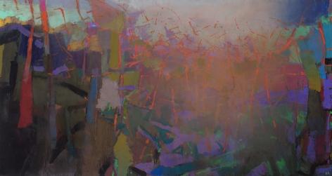 brian rutenberg, Clover, 2013-14, oil on linen, 48 x 90 inches