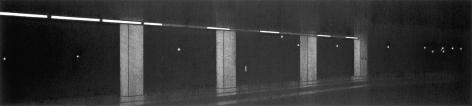 anthony mitri, No. 188, Penn Station, NY, NY, 2005, charcoal on paper, 6 x 26 3/4 inches